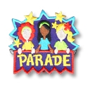 Parade Fun Patch (Girls with Banner)