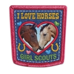 I Love Horses Fun Patch