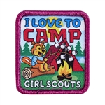 I Love to Camp Sew-on Fun Patch - Chipmunk