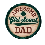 Awesome Girl Scout Dad Fun Patch