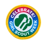 Celebrate Girl Scout Week Sew-On Fun Patch -  Rainbow