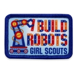 I Build Robots Sew-On Fun Patch