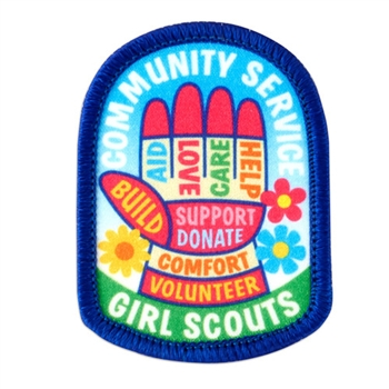 Community Service Hand (words) Fun Patch