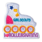 Sew-On I Love Rollerskating Fun Patch