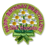 Happy Birthday Juliette Low Daisies Sew-on Fun Patch
