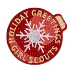 Holiday Greetings Iron-On Patch