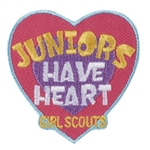 Juniors Have Heart Iron-on Fun Patch