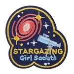 Stargazing Girl Scout Fun Patch