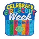 Celebrate Girl Scout Week Iron-On Fun Patch