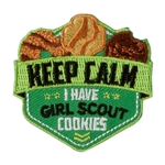 Keep Calm Cookies Fun Patch