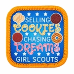 Selling Cookies Chasing Dreams Fun Patch
