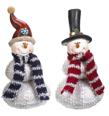 Dotted Snowman Figurine
