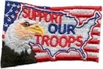Support Our Troops Sew-On Fun Patch