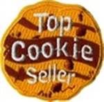 Top Cookie Seller Cookie Sew-On Fun Patch