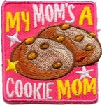 My Mom is a Cookie Mom (Pink) Sew-On Fun Patch