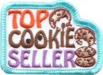 Top Cookie Seller Sew-On Fun Patch