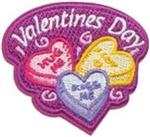 Valentines Day candies Sew-On Fun Patch