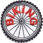 Biking Sew-On Fun Patch