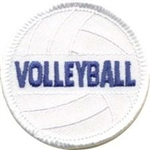 Volleyball Sew-On Fun Patch
