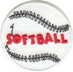 Softball Sew-On Fun Patch
