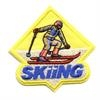 Skiing Sew-On Fun Patch (Yellow Diamond)