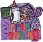 Scrapbooking (purple) Sew-On Fun Patch