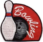 Bowling Sew-on Fun Patch