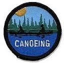 Canoeing Sew-On Fun Patch