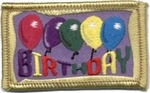 Birthday balloons Sew-On Fun Patch