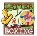 Letter Boxing Sew-On Fun Patch