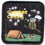 Overnight camping Sew-On Fun Patch