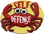 Self Defense Crab Fun Patch