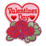 Valentine Day with Roses Fun Patch