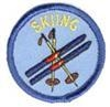 Skiing Sew-On Fun Patch (Blue Circle)