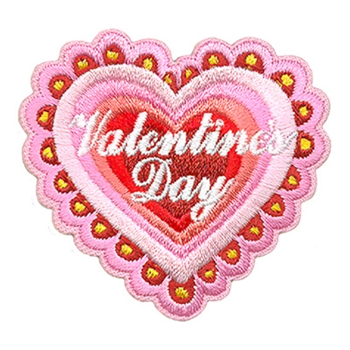 Valentines Day Lace Heart Fun Patch