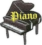 Piano Sew-On Fun Patch