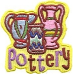 Pottery Sew-On Fun Patch