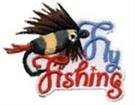 Fly Fishing Sew-On Fun Patch