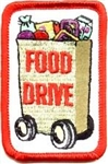 Food Drive Red Grocery Bag  Fun Patch