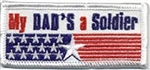 """My Dad's a Soldier"" Sew-On Fun Patch"