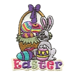 Easter Basket and Bunny Fun Patch