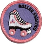 Roller Skating (pink) Sew-On Fun Patch