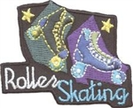 Roller Skating (black) Sew-On Fun Patch