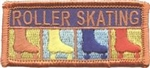 Roller Skating (orange) Sew-On