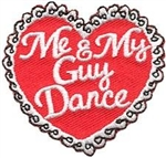Me and My Guy Dance (Red Heart)  Fun Patch