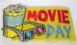 Movie Day Sew-On Fun Patch