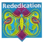Girl Scout Rededication Sew-on Patch - Butterfly