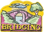 Girl Scout Bridging Sew-on Patch - Bridge on Yellow