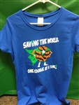 Saving the World One Cookie at a Time Shirt - Kids' Sizes - Girls' M