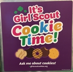 It's Girl Scout Cookie Time Magnet (Purple)